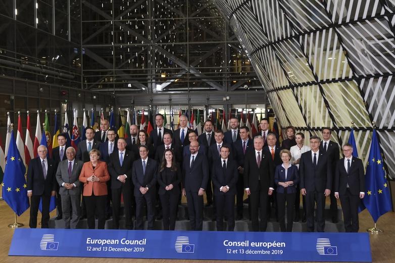 Le Conseil européen, réunion des chefs d'Etat et de gouvernement (ici en décembre 2019), est une illustration de l'importance des Etats membres dans le processus décisionnel de l'UE - Crédits : Alexandros Michailidis / Conseil européen