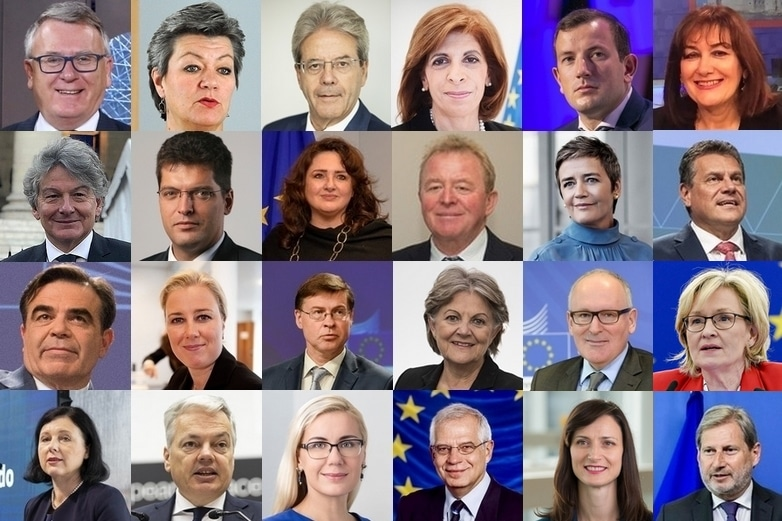 Liste des membres de la Commission von der Leyen. Crédits : Commission européenne | Parlement européen | Wikimedia commons