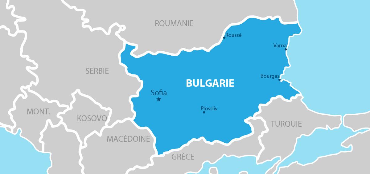 Bulgarie Carte géographique