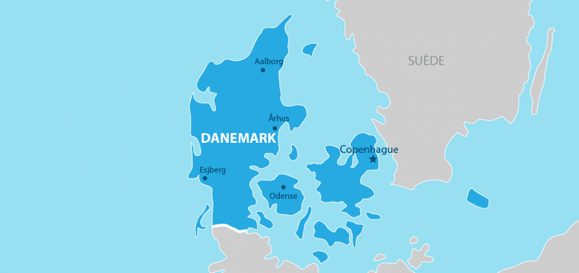 Danemark carte géographique