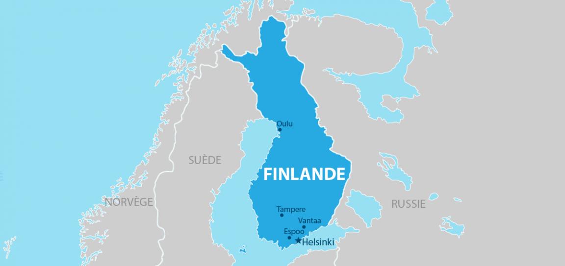 Finlande carte géographique