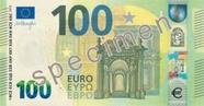Billet de 100 euros série Europe, recto