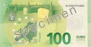 Billet de 100 euros série Europe, verso