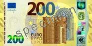 Billet de 200 euros série Europe, recto