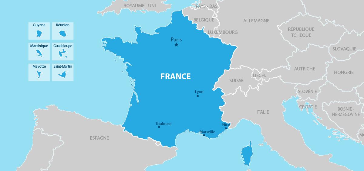 France Carte géographique