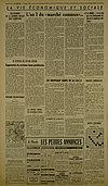 Article de La Croix - 1er janvier 1958