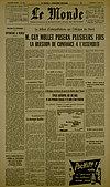 Article du Monde - 14 février 1956 - Jean Schwoebel