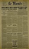 Une du Monde - 4 juillet 1956