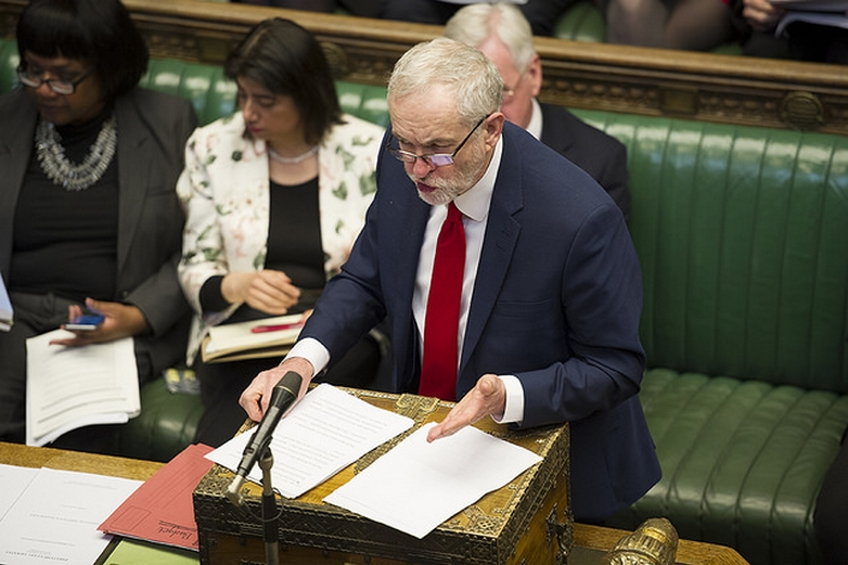 Jeremy Corbyn - Crédits : Jessica Taylor / Parlement britannique / Flickr CC BY-NC 2.0