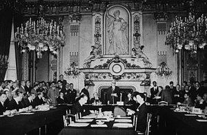 Salon de l'horloge du Quai d'Orsay où s'est déroulé le discours de Robert Schuman le 9 mai 1947