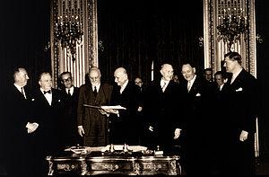 Signature du Traité de Paris, 18 avril 1951