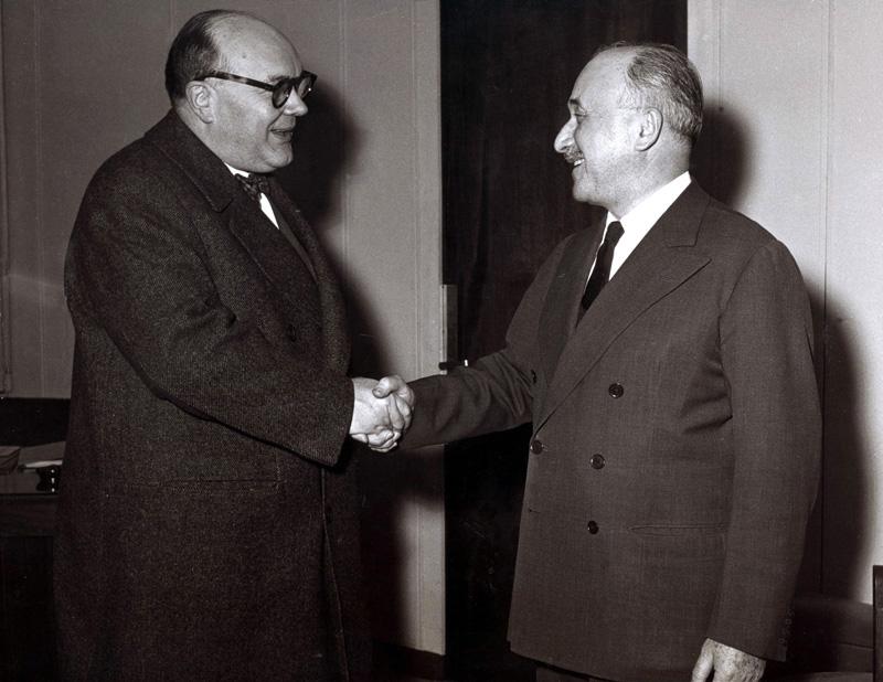 Paul-Henri Spaak et Jean Monnet