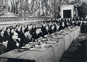 Signature des Traités de Rome, 25 mars 1957