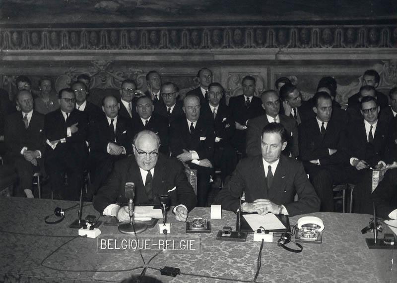 Paul-Henri Spaak et Jean-Charles Snoy et d'Oppuers, 25 mars 1957