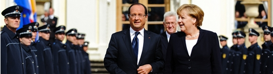 Angeal Merkel et François Hollande