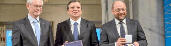 Herman Van Rompuy, José Manuel Barroso et Martin Schulz