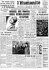 Une de L'Humanité - 26 mars 1957