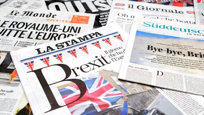 Unes de journaux européens au lendemain du référendum sur le Brexit