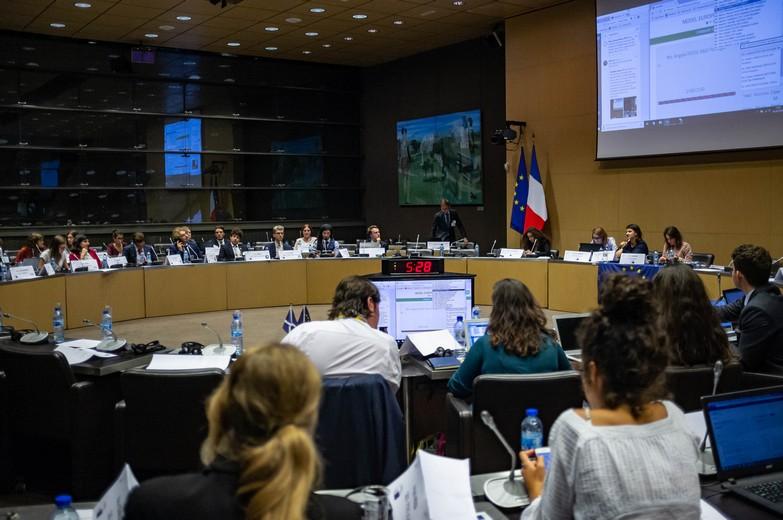 Simulation du Parlement européen au MEU de Paris 2018