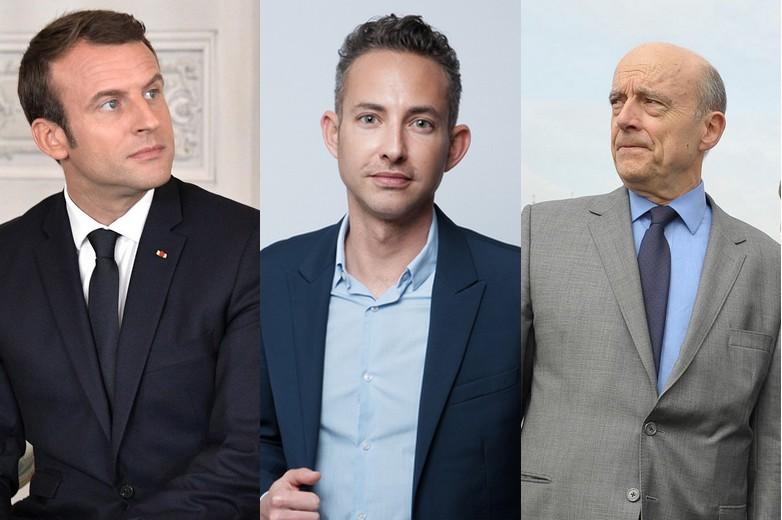 Emmanuel Macron, Ian Brossat et Alain Juppé - Crédits : Wikicommons / Flickr