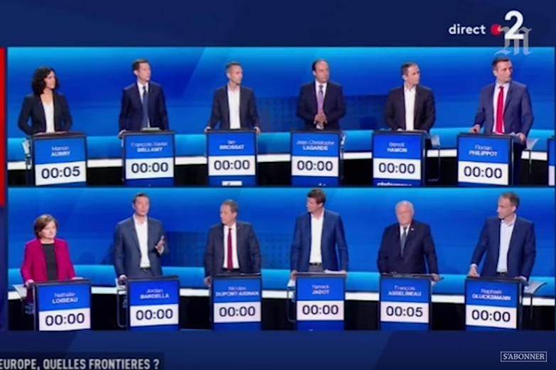Capture d'écran de l'Emission politique du 4 avril 2019 consacrée aux élections européennes