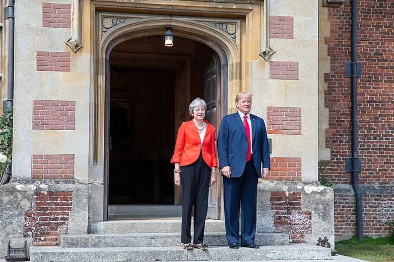 Theresa May et Donald Trump en juillet 2018 - Crédits : Shealah Craighead/Official White House / Wikimedia Commons