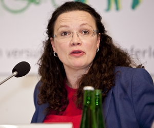 Andrea Nahles - Crédits : Flickr CC BY-SA 2.0