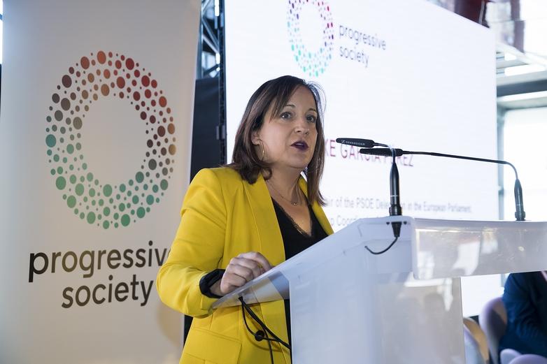 La Présidente du groupe S&D au Parlement européen Iratxe Gárcia Pérez - Crédits : PES Communications / Flickr