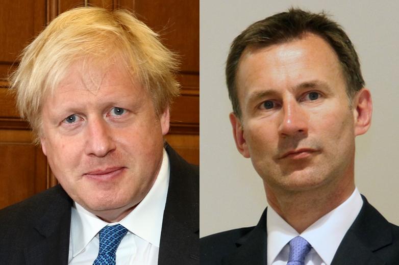 De gauche à droite : les deux prétendants au poste de Premier ministre britannique Boris Johnson et Jeremy Hunt - Crédits : Wikimedia Commons