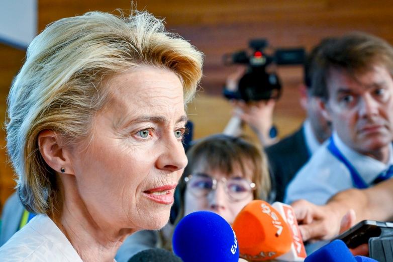 Ursula von der Leyen, désignée par les chefs d'Etat et de gouvernement pour présider la Commission européenne - Crédits : Parlement européen