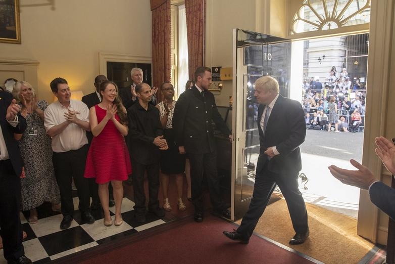 Le nouveau Premier ministre britannique Boris Johnson à Downing Street - Crédits : Number 10 / Flickr CC BY-NC-ND 2.0