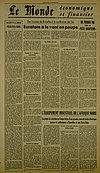 Article du Monde - 22 janvier 1956 - Pierre Drouin