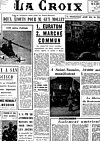 Une de La Croix - 25 mars 1957 - Pierre Limagne