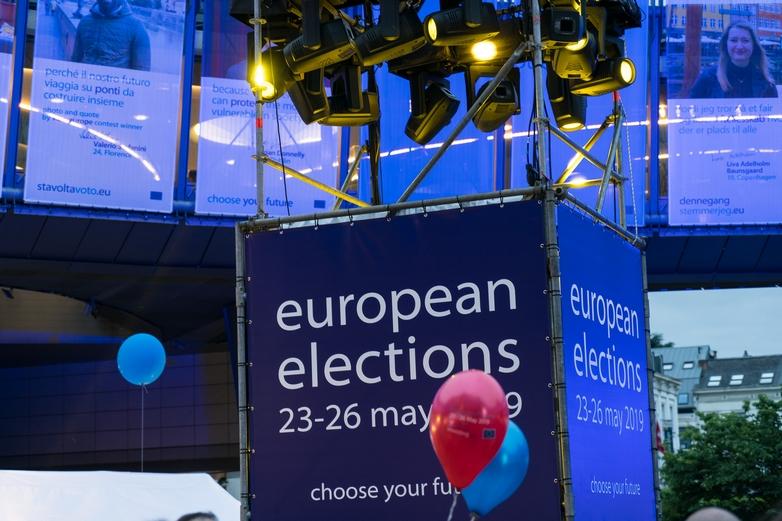 A l'extérieur du Parlement européen à Bruxelles le 26 mai, dernier jour des élections européennes - Crédits : Parlement européen