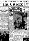 Une de La Croix - 26 mars 1957
