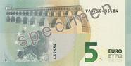 Billet de 5 euros série Europe, verso