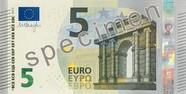 Billet de 5 euros série Europe, recto