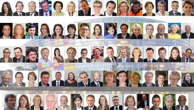 Les 72 élus députés européens - France