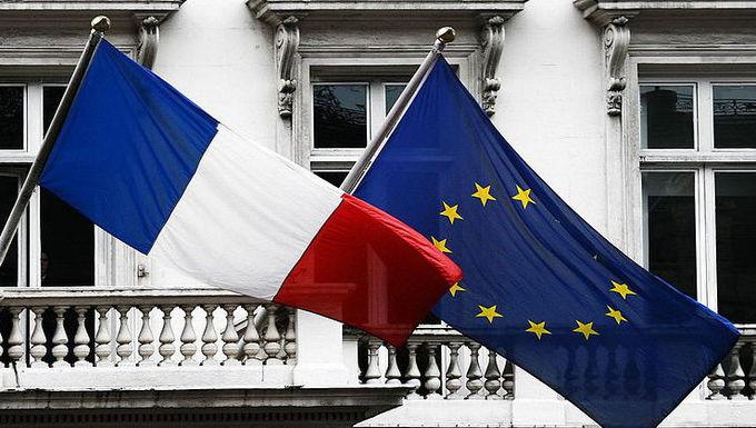 Drapeaux France - Union européenne