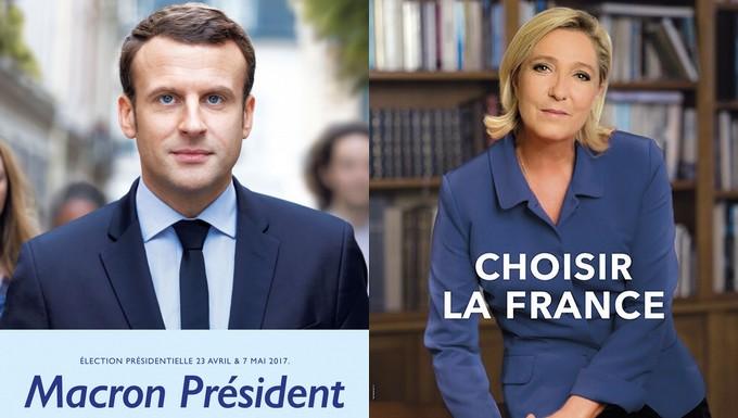 Affiches Macron-Le Pen