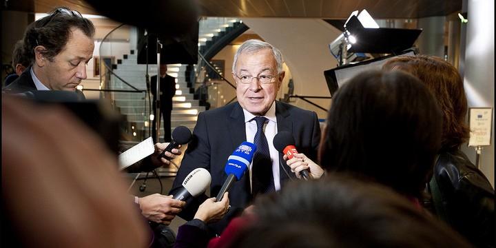 Alain Lamassoure, au Parlement européen, en 2012
