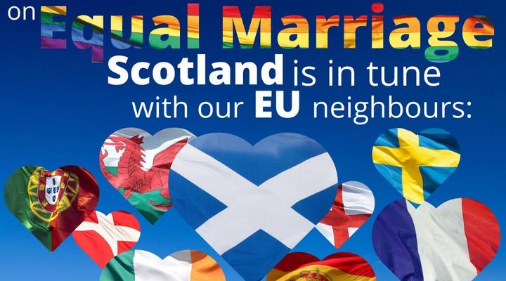 Affiche de promotion du mariage homosexuel