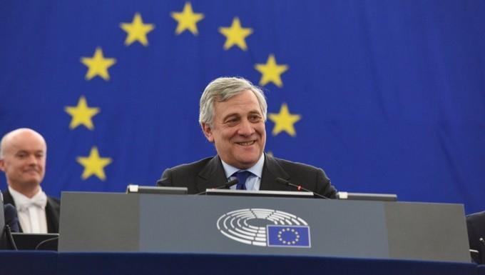 Antonio Tajani, après son élection à la présidence du Parlement européen