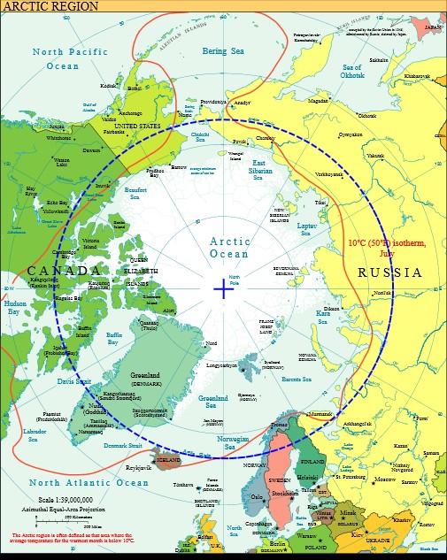 Carte de l'Arctique
