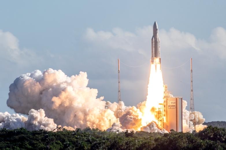 La fusée Ariane 5, ici à Kourou en Guyane, sera prochainement remplacée par Ariane 6 - Crédits : Commission européenne