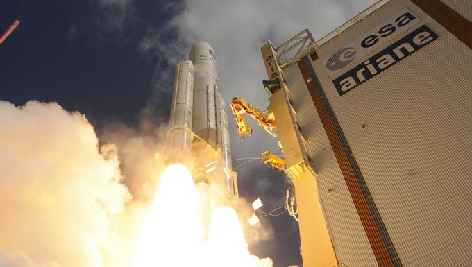 Lancement de la fusée Ariane 5. Photo : ESA