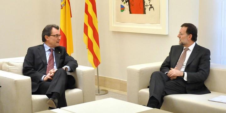 Artur Mas et Mariano Rajoy, en 2012