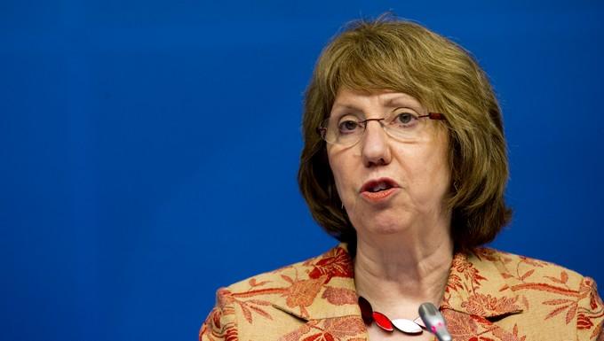 Catherine Ashton au Conseil Affaires étrangères du 20 janvier 2014