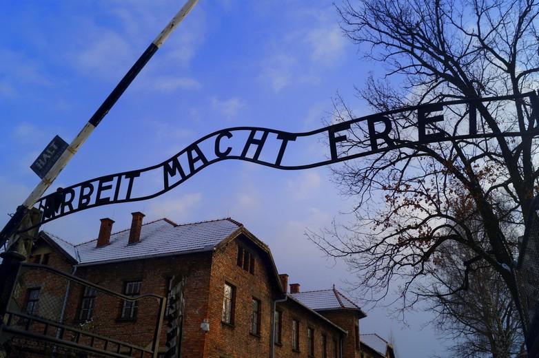 Le camp de concentration et d'extermination d'Auschwitz en Pologne