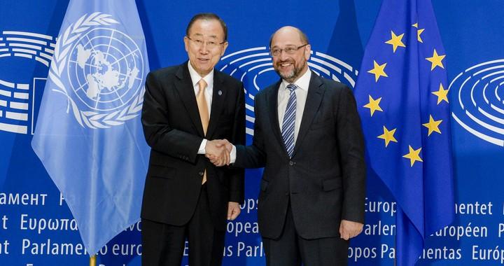 Ban Ki-moon et Martin Schulz